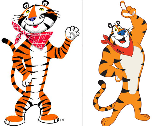 versions of Tony the Tiger